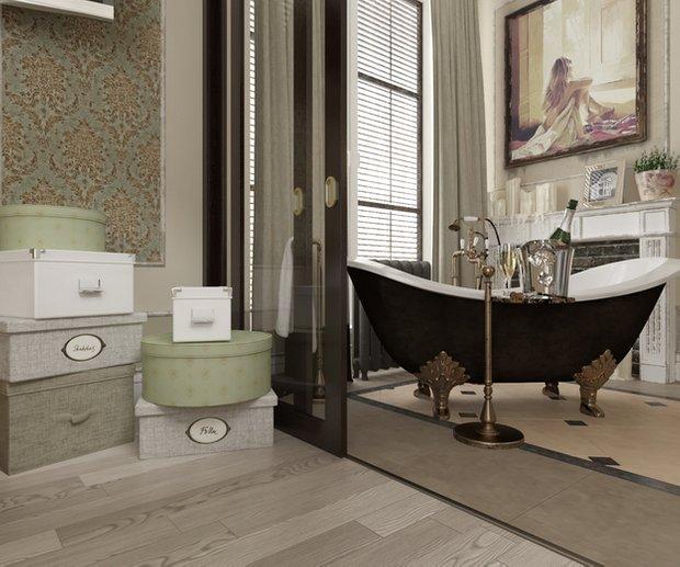 Фотография: Ванная в стиле Прованс и Кантри, Классический, Дом, Дома и квартиры, Прованс, Проект недели – фото на INMYROOM