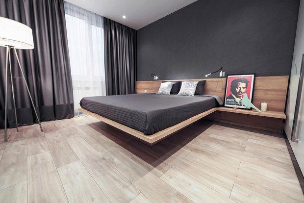 Фотография: Спальня в стиле Современный, Гид, напольное покрытие, ламинат – фото на INMYROOM