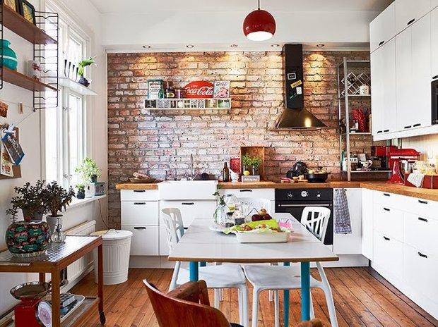 Фотография: Кухня и столовая в стиле Лофт, Скандинавский, Малогабаритная квартира, Квартира, Дома и квартиры – фото на INMYROOM
