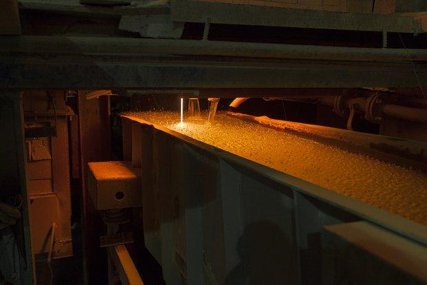 Производство фриты на заводе Kerama Marazzi в Орле
