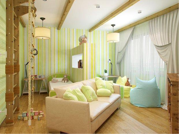 Фотография: Детская в стиле Современный, Декор интерьера, Декор дома, Обои – фото на INMYROOM