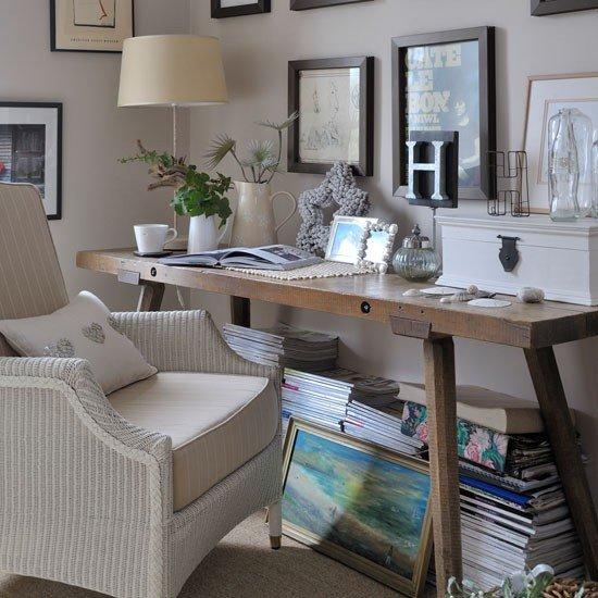 Фотография: Кабинет в стиле Прованс и Кантри, Интерьер комнат – фото на INMYROOM