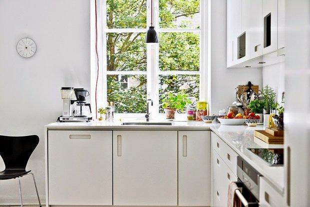 Фотография: Кухня и столовая в стиле Скандинавский, Интерьер комнат, kuhnya-8-kv-metrov – фото на INMYROOM