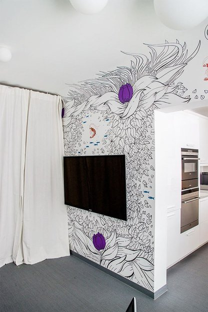 Фотография: Спальня в стиле Современный, Кухня и столовая, Интерьер комнат, Elle Decoration – фото на INMYROOM