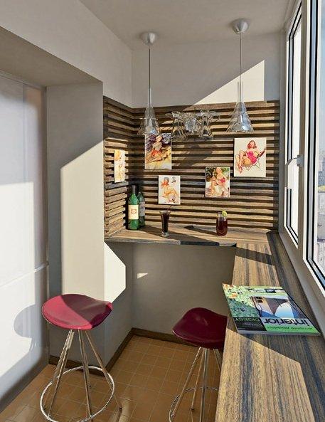 Фотография: Балкон, Терраса в стиле Современный, Интерьер комнат, Барная стойка – фото на INMYROOM