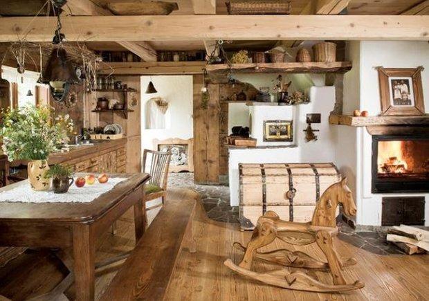 Фотография: Кухня и столовая в стиле , Дом, Дома и квартиры, Дача – фото на INMYROOM