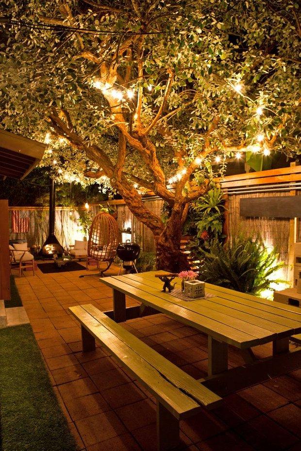 Фотография: Терраса в стиле Восточный, Ландшафт, Мебель и свет, Дом и дача, как осветить дачный участок, как выбрать фонари для сада – фото на INMYROOM