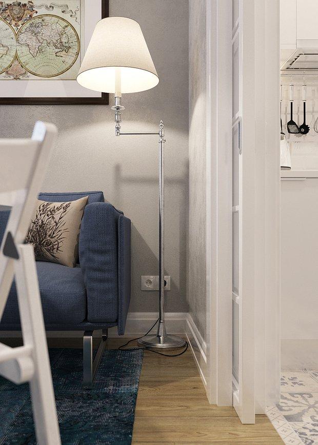 Фотография: Мебель и свет в стиле Современный, Скандинавский, Малогабаритная квартира, Квартира, Дома и квартиры, Проект недели – фото на INMYROOM