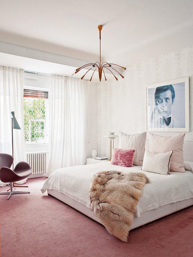Фотография: Спальня в стиле Эклектика, Классический, Современный, Квартира, Дома и квартиры – фото на INMYROOM