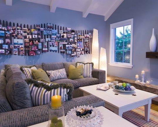 Фотография: Гостиная в стиле Современный, Декор интерьера, Декор дома, Цвет в интерьере, Обои – фото на INMYROOM