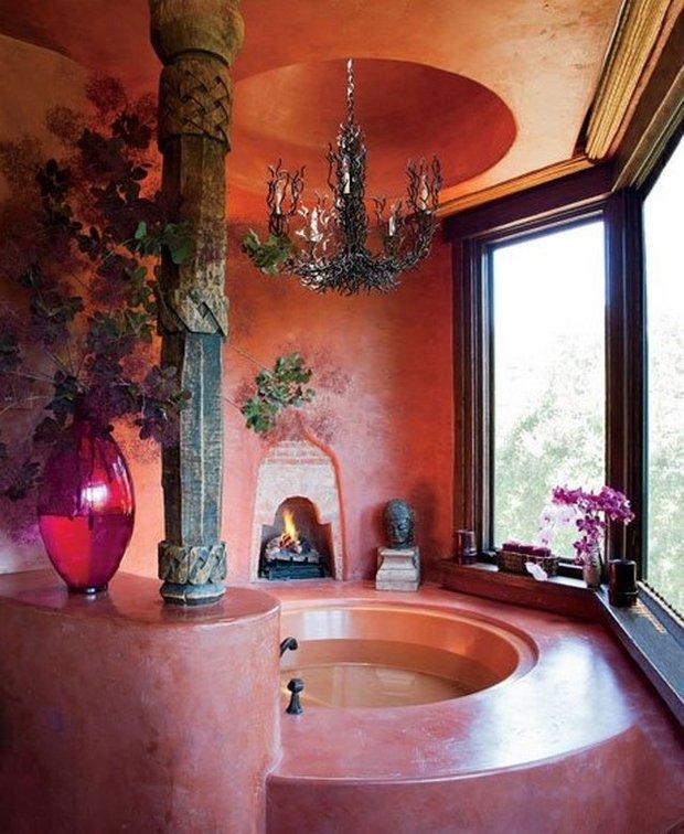 Фотография: Ванная в стиле Прованс и Кантри, Классический, Современный, Восточный, Дома и квартиры, Интерьеры звезд – фото на INMYROOM