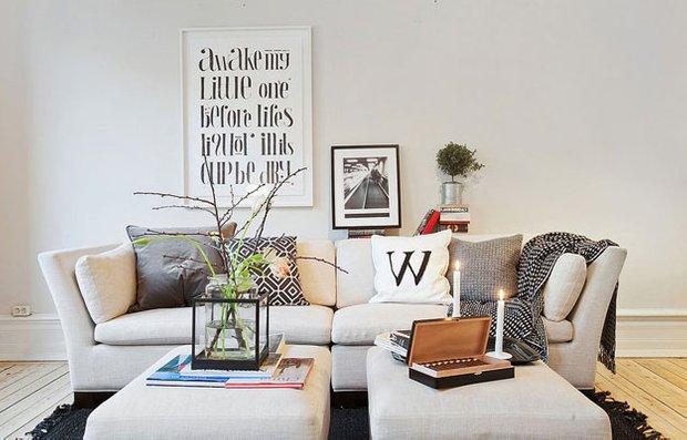 Фотография: Гостиная в стиле Скандинавский, Дизайн интерьера – фото на INMYROOM