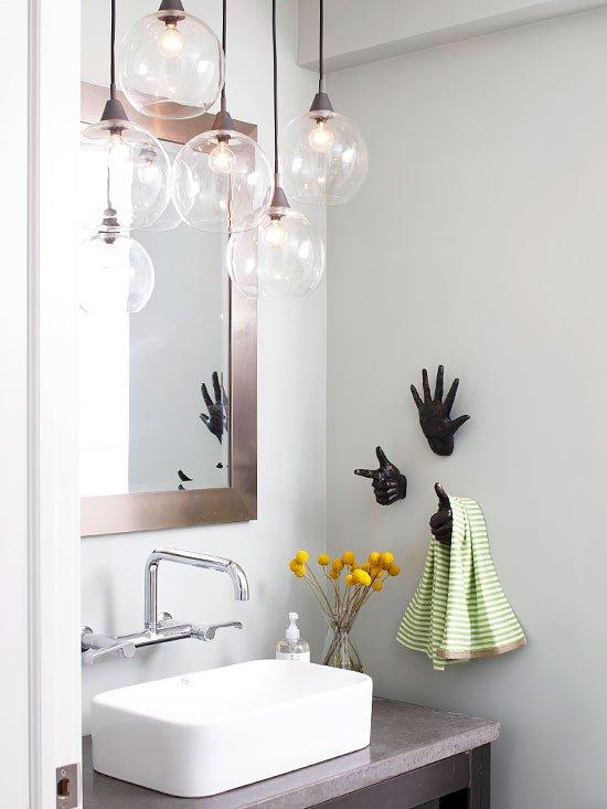 Фотография: Ванная в стиле Скандинавский, Декор интерьера, Дом, Декор дома, Цвет в интерьере – фото на INMYROOM