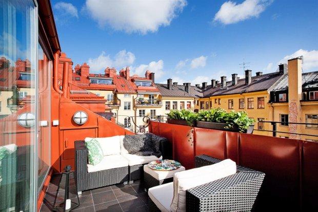 Фотография: Балкон, Терраса в стиле , Лофт, Скандинавский, Малогабаритная квартира, Квартира, Дома и квартиры – фото на INMYROOM