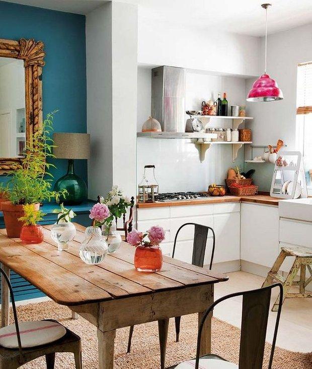 Фотография:  в стиле , Кухня и столовая, Квартира, Мебель и свет, Переделка, Ремонт на практике – фото на InMyRoom.ru