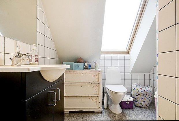 Фотография: Ванная в стиле Прованс и Кантри, Скандинавский, Малогабаритная квартира, Квартира, Швеция, Дома и квартиры – фото на INMYROOM