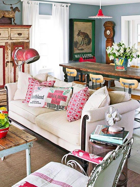 Фотография: Гостиная в стиле Лофт, Декор интерьера, Мебель и свет, Декор дома, Советы, Ковер – фото на INMYROOM