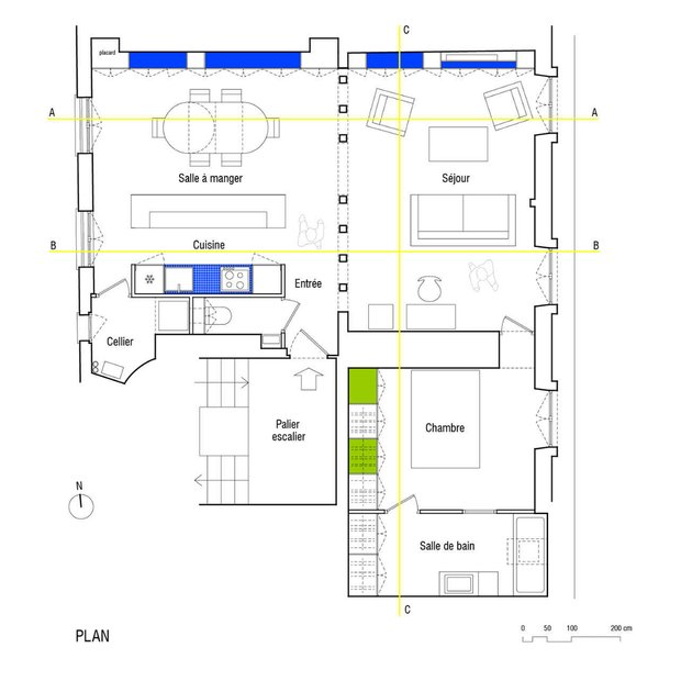 Фотография: Планировки в стиле , Квартира, Франция, Мебель и свет, Дома и квартиры, Париж – фото на INMYROOM