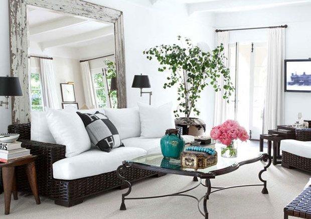 Фотография: Гостиная в стиле Эклектика, Малогабаритная квартира, Интерьер комнат – фото на INMYROOM