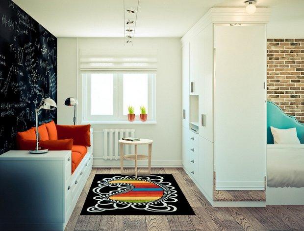 Фотография: Спальня в стиле Лофт, Современный, Скандинавский, Гид – фото на INMYROOM