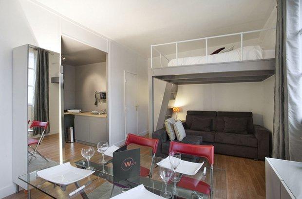 Фотография: Гостиная в стиле Лофт, Современный, Малогабаритная квартира, Квартира, Дома и квартиры – фото на INMYROOM