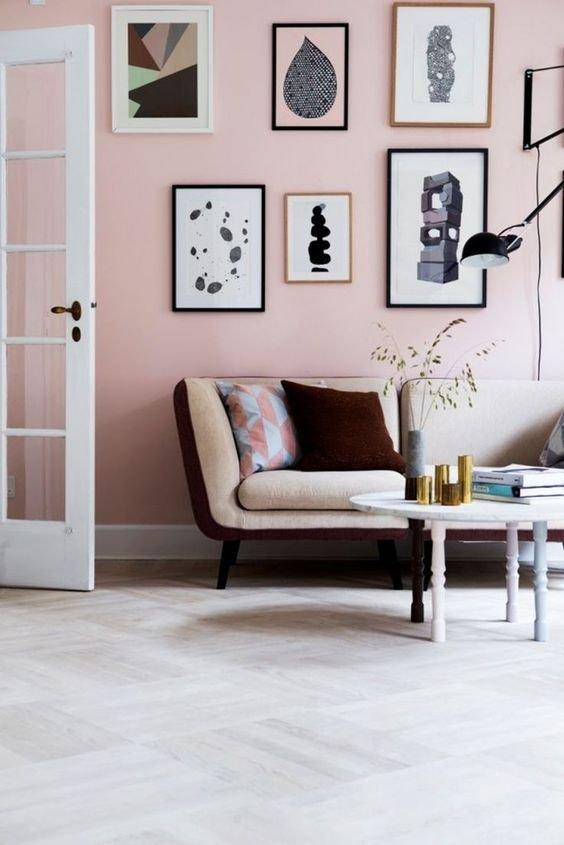 Фотография: Гостиная в стиле Скандинавский, Декор интерьера, Декор, Розовый – фото на INMYROOM