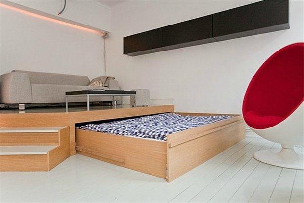 Фотография: Гостиная в стиле Лофт, Интерьер комнат – фото на INMYROOM
