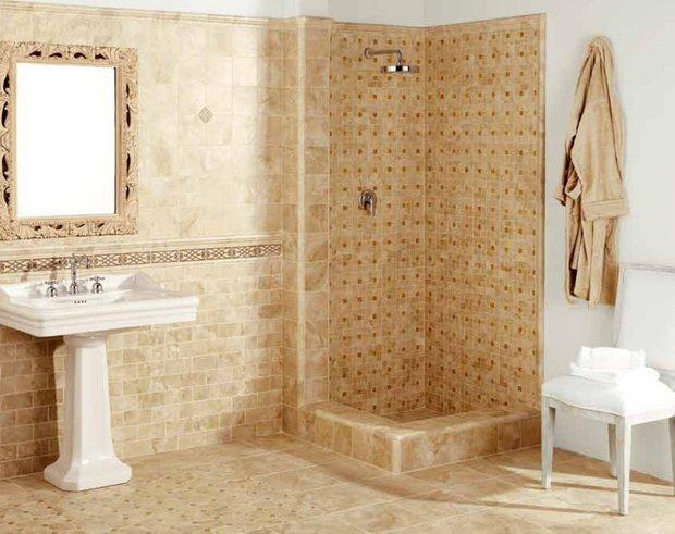 Фотография: Ванная в стиле Классический, Обои, Переделка, Плитка, Краска, Стеновые панели – фото на INMYROOM