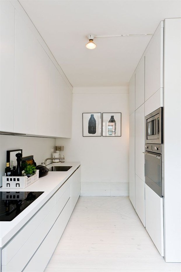 Фотография: Кухня и столовая в стиле Лофт, Скандинавский, Малогабаритная квартира, Квартира, Декор, Советы – фото на INMYROOM