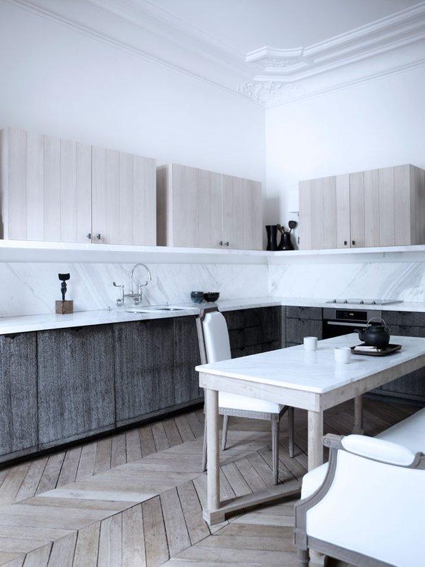 Фотография: Кухня и столовая в стиле Скандинавский, Современный, Квартира, Дома и квартиры, Международная Школа Дизайна – фото на INMYROOM