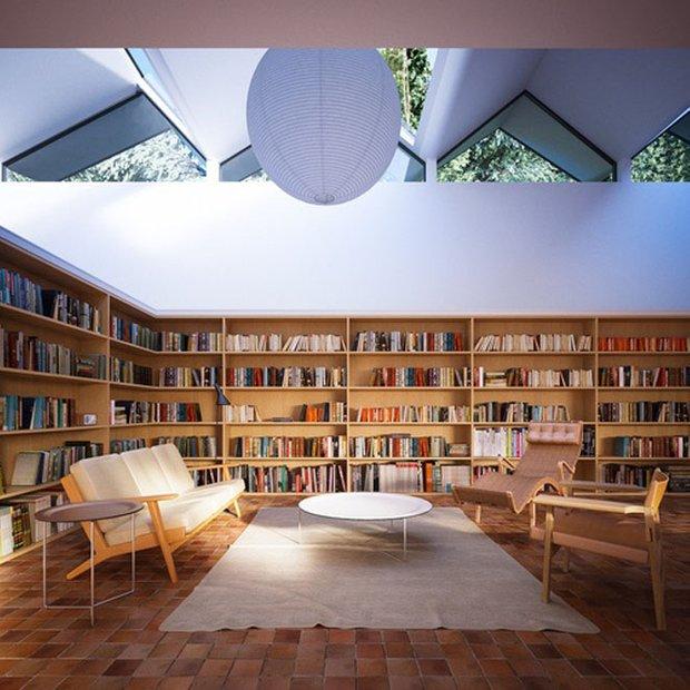 Фотография:  в стиле Современный, Системы хранения, Библиотека, Домашняя библиотека – фото на INMYROOM