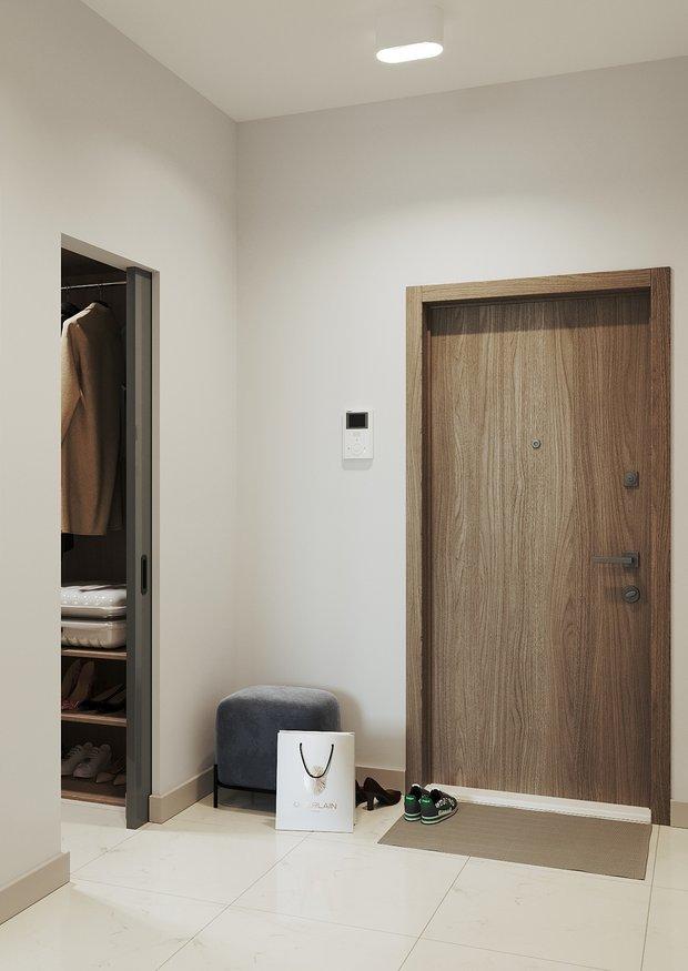 Фотография: Прихожая в стиле Современный, Квартира, Перепланировка, 2 комнаты, 40-60 метров, Наталья Мукасьян – фото на INMYROOM