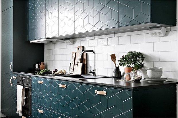 Фотография: Кухня и столовая в стиле Скандинавский, Малогабаритная квартира, Квартира, Швеция, Советы, Стокгольм, 1 комната, до 40 метров – фото на INMYROOM