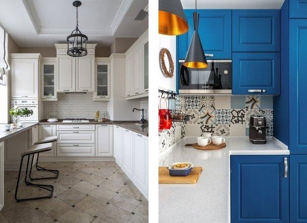 Дизайн: Елена Маркина (слева), OM Design (справа)