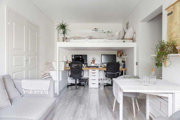 Фотография: Гостиная в стиле Скандинавский, Спальня, Гид – фото на INMYROOM