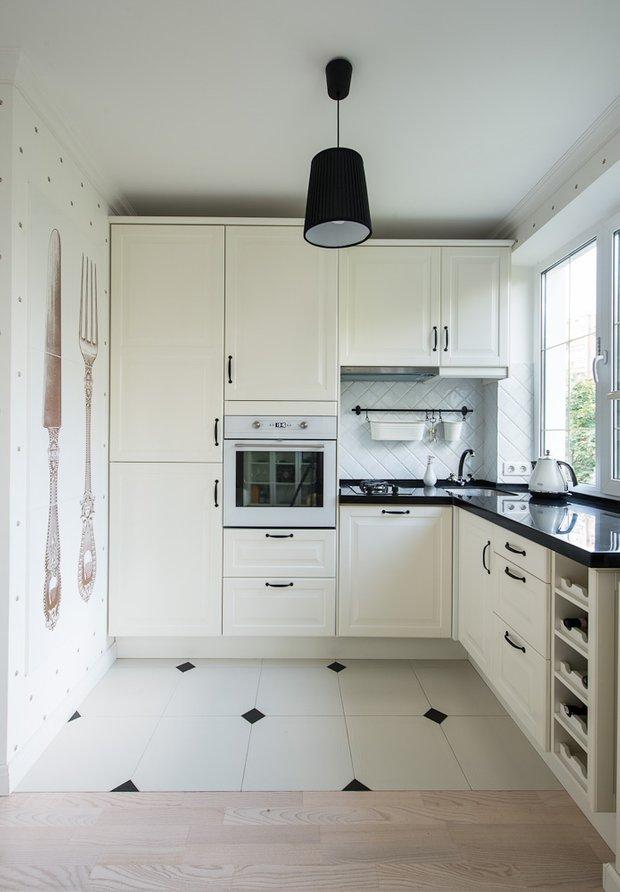 Фотография: Кухня и столовая в стиле Классический, Современный, Малогабаритная квартира, Квартира, Декор, Дома и квартиры, IKEA, Проект недели – фото на INMYROOM