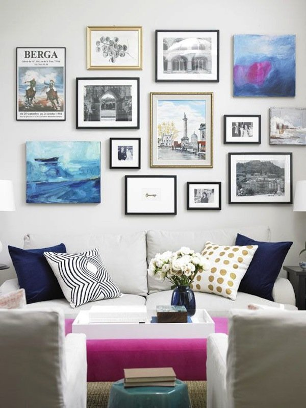 Фотография: Гостиная в стиле Современный, Восточный, Декор интерьера, Декор дома, Стены, Картины, Постеры – фото на INMYROOM