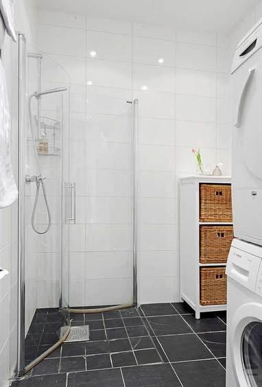 Фотография: Ванная в стиле Скандинавский, Квартира, Швеция, Мебель и свет, Дома и квартиры, Гетеборг – фото на INMYROOM