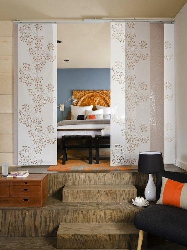 Фотография: Спальня в стиле Восточный, Малогабаритная квартира, Квартира, Дома и квартиры – фото на INMYROOM