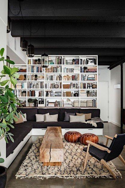 Фотография: Гостиная в стиле Скандинавский, Лофт, Декор интерьера, Квартира, Дома и квартиры, Нью-Йорк – фото на INMYROOM