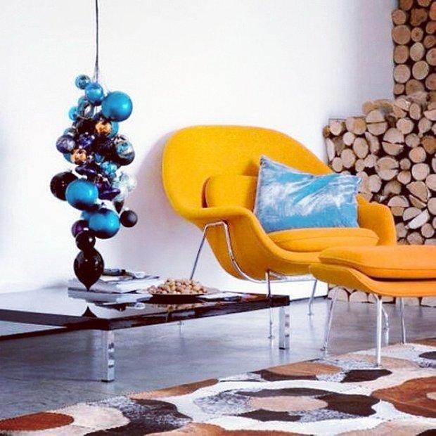 Фотография: Гостиная в стиле Современный, Стиль жизни, Советы, Постеры, Винтаж – фото на INMYROOM