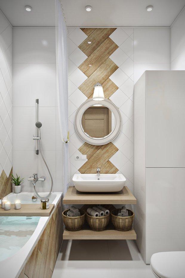 Фотография: Ванная в стиле Скандинавский, Современный, Советы, санузел, Jacob Delafon, дизайнерская сантехника, как реже убираться, уборка в ванной, порядок в ванной – фото на INMYROOM