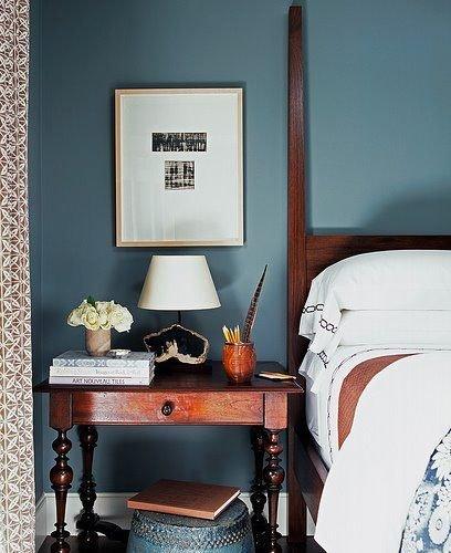 Фотография: Спальня в стиле Прованс и Кантри, Лофт, Декор интерьера, Аксессуары, Декор, Белый, Черный, Желтый, Серый, Бирюзовый – фото на INMYROOM