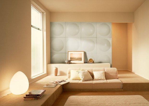 Фотография: Гостиная в стиле Современный, Декор интерьера, Декор дома, Стеновые панели – фото на InMyRoom.ru