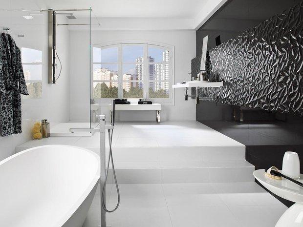 Фотография:  в стиле , Ванная, Советы, дизайн большой ванной комнаты, идеи для просторного санузла, как оформить большую ванную – фото на INMYROOM