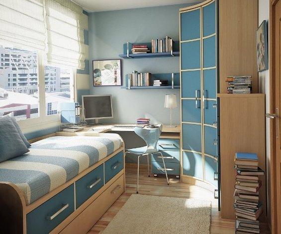 Фотография: Детская в стиле Современный, Спальня, Гардеробная, Декор интерьера, Интерьер комнат, Системы хранения, Кровать, Гардероб – фото на INMYROOM