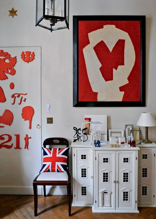 Фотография: Декор в стиле Лофт, Современный, Эклектика, Декор интерьера, DIY, Квартира, Россия, Советы, Красный, русский стиль – фото на INMYROOM