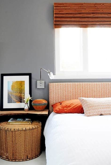 Фотография: Спальня в стиле Прованс и Кантри, Современный, Декор интерьера, Дизайн интерьера, Цвет в интерьере, Оранжевый – фото на InMyRoom.ru