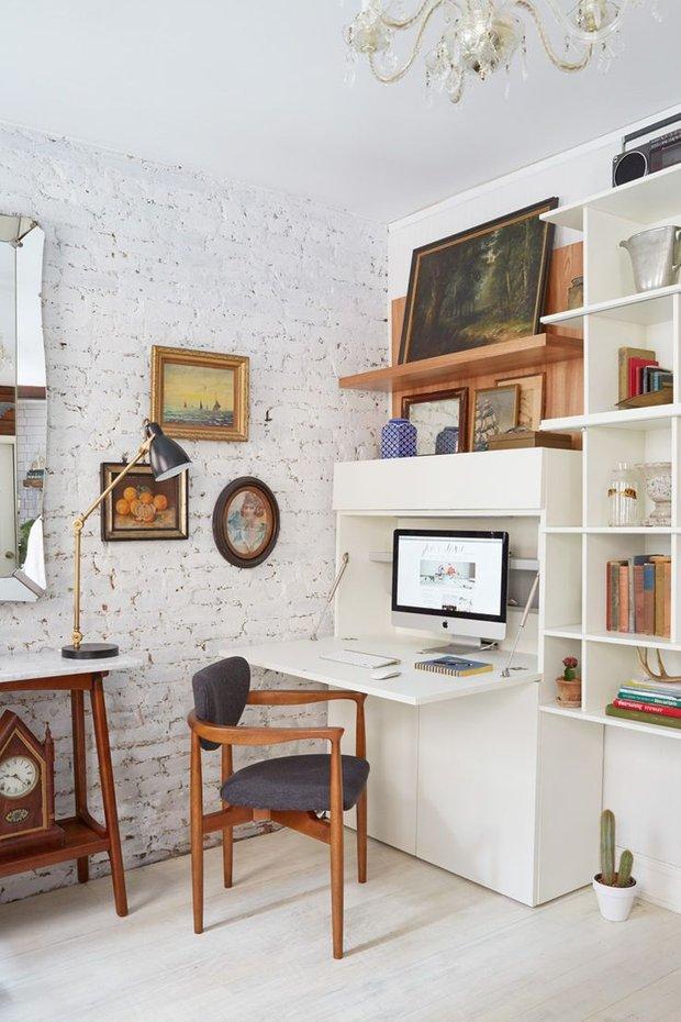 Фотография: Кабинет в стиле Лофт, Малогабаритная квартира, Квартира, Советы – фото на INMYROOM