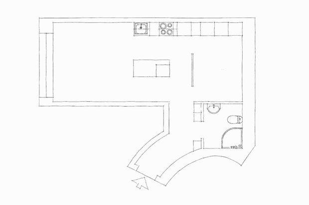 Фотография: Планировки в стиле , Скандинавский, Декор интерьера, Квартира, Швеция, Минимализм, Бежевый, Серый, Гетеборг, Геометрия в интерьере, скандинавский минимализм, 2 комнаты, 40-60 метров – фото на INMYROOM